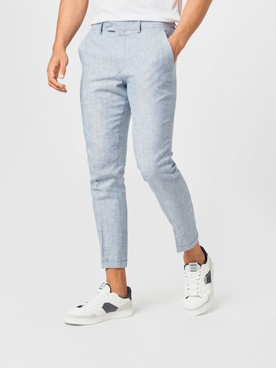 JACK & JONES Kalhoty se sklady v pase - kouřově modrá, Model/ka