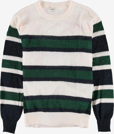 GARCIA Pullover in dunkelblau / dunkelgrün / weiß, Produktansicht