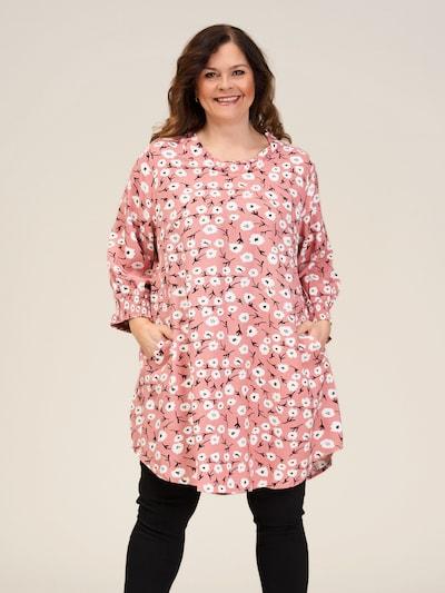 GOZZIP Tunika 'Meta' in pink / schwarz / weiß, Modelansicht