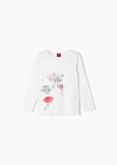 s.Oliver Shirt in silber / weiß, Produktansicht