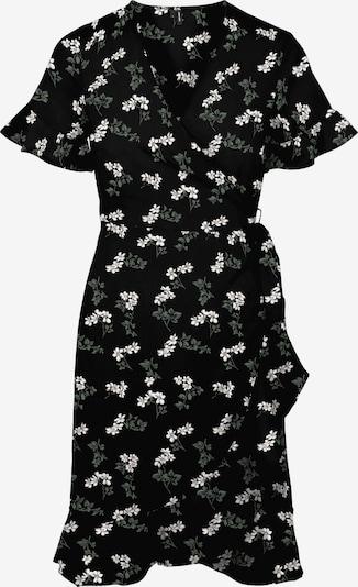 VERO MODA Kleid 'Saga' in dunkelgrün / schwarz / weiß, Produktansicht