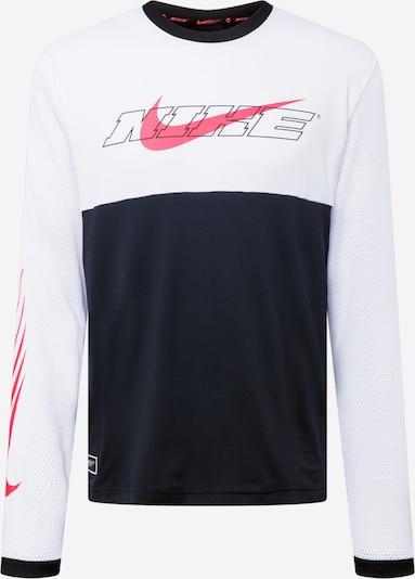 Sportiniai marškinėliai 'Clash' iš NIKE, spalva – spanguolių spalva / juoda / balta, Prekių apžvalga