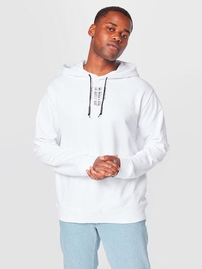 HUGO Sweat-shirt 'Darrett' en gris / gris foncé / rouge / blanc: Vue de face