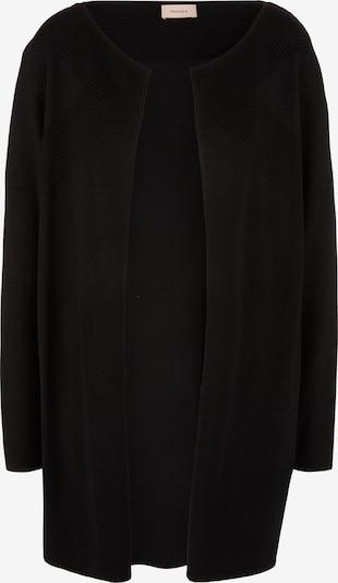 TRIANGLE Cardigan mit Rippstruktur in schwarz, Produktansicht