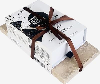 I Want You Naked Geschenkset in beige / weiß, Produktansicht