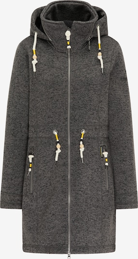 Schmuddelwedda Fleece jas in de kleur Antraciet: Vooraanzicht