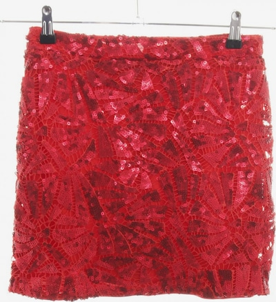 H&M Minirock in XS in rot: Frontalansicht