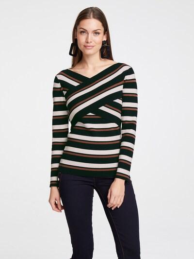 heine Pullover in braun / schwarz / weiß, Modelansicht