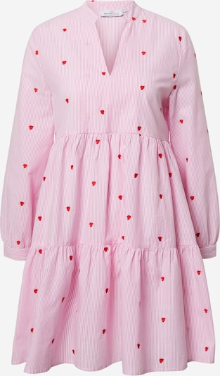 Zwillingsherz Shirt dress 'Elena' in Pink / Red / White, Item view