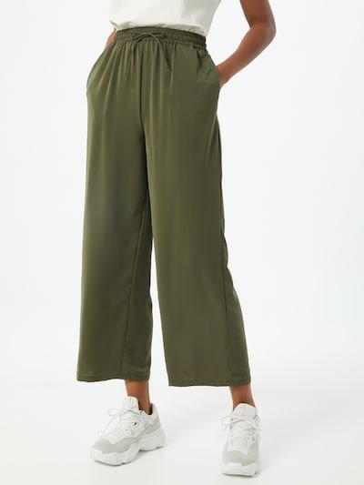 Kelnės 'Basika' iš VILA , spalva - rusvai žalia, Modelio vaizdas