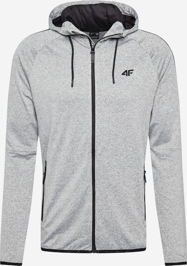 4F Bluza rozpinana sportowa w kolorze jasnoszary / czarnym, Podgląd produktu