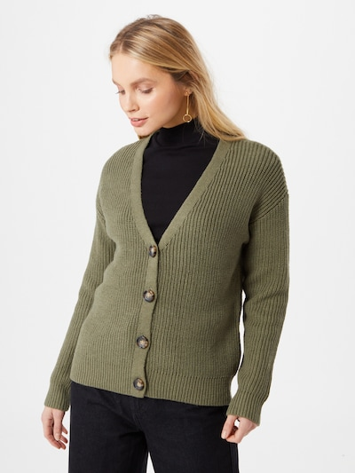 PIECES Cardigan 'Karie' in oliv: Frontalansicht