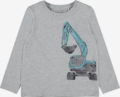 NAME IT Shirt 'Donto' in de kleur Blauw / Antraciet / Grijs gemêleerd, Productweergave