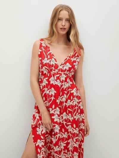 MANGO Kleid 'Becca' in rot / schwarz / weiß, Modelansicht