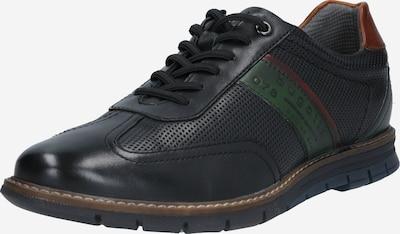 bugatti Chaussure à lacets 'Sandman' en marron / vert foncé / noir, Vue avec produit