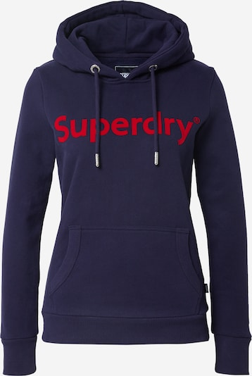 Superdry Sweat-shirt 'Registered Flock' en bleu marine / rouge, Vue avec produit
