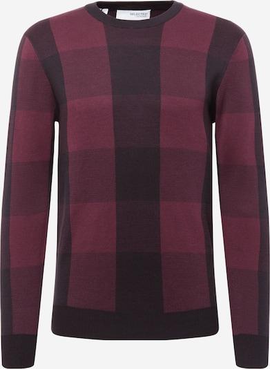 SELECTED HOMME Džemperis, krāsa - bordo / vīnsarkans / melns, Preces skats