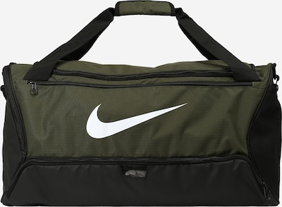 NIKE Sporttas in de kleur Kaki / Donkergroen / Wit, Productweergave