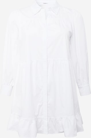 GLAMOROUS CURVE Kleid in Weiß