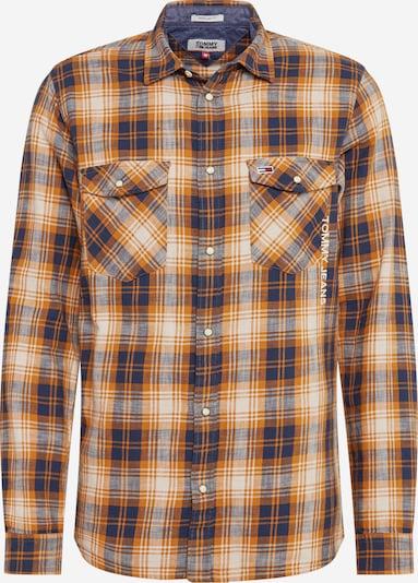 Tommy Jeans Hemd 'WESTERN' in beige / navy / safran, Produktansicht