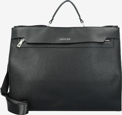 GUESS Aktentasche 'Riviera' in silbergrau / schwarz, Produktansicht
