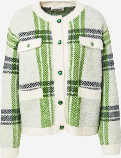 Essentiel Antwerp Adīta jaka 'Anywhere', krāsa - gaiši pelēks / ābolu / tumši zaļš / dabīgi balts, Preces skats