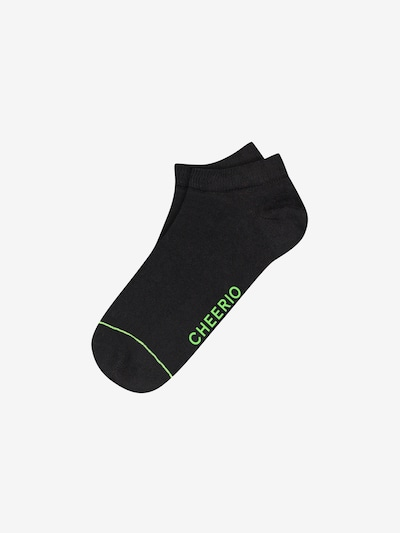 CHEERIO* Ankle socks 'SNEAKER PAL' in Green / Black, Item view
