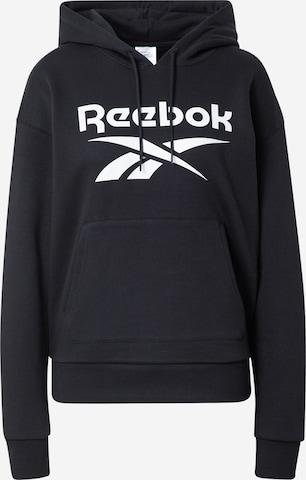 Reebok Sport Спортен блузон с качулка в черно