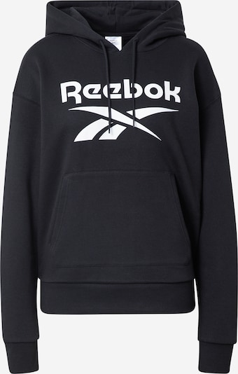 Reebok Sport Sweat de sport en noir / blanc, Vue avec produit