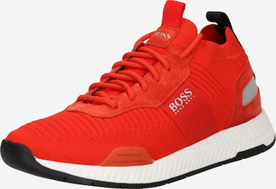 Sneaker low 'Titanium' BOSS Casual pe gri fumuriu / portocaliu neon, Vizualizare produs