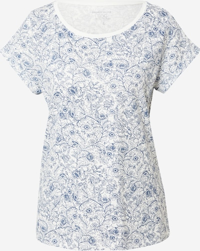 EDC BY ESPRIT T-shirt i blå / off-white, Produktvy