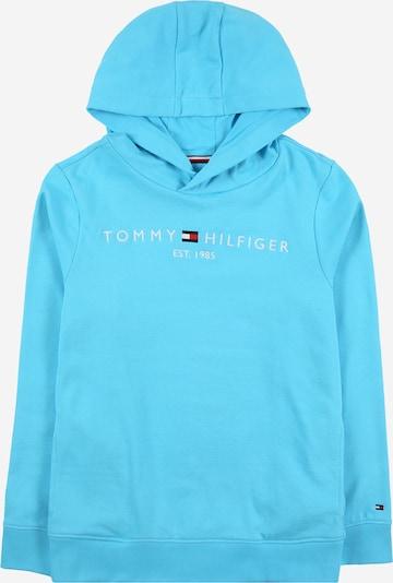TOMMY HILFIGER Sweatshirt 'ESSENTIAL' in himmelblau / weiß, Produktansicht