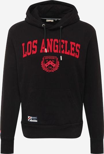 Superdry Sweatshirt in Red / Black, Item view
