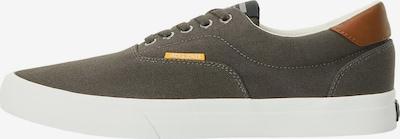 JACK & JONES Zapatillas deportivas bajas 'JFWMORK CANVAS BELUGA SS' en chocolate / color barro, Vista del producto