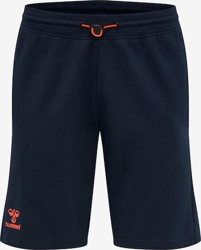 Hummel Pantalon de sport en bleu nuit / orange, Vue avec produit