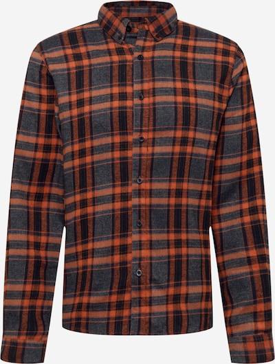 Revolution Hemd in navy / mandarine / weiß, Produktansicht