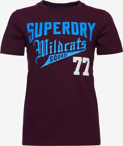Superdry T-shirt 'Collegiate Cali State' en lie de vin, Vue avec produit
