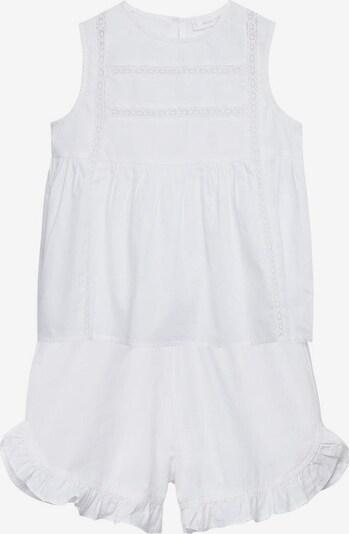 MANGO KIDS Pyjama 'Lidia' in weißmeliert, Produktansicht