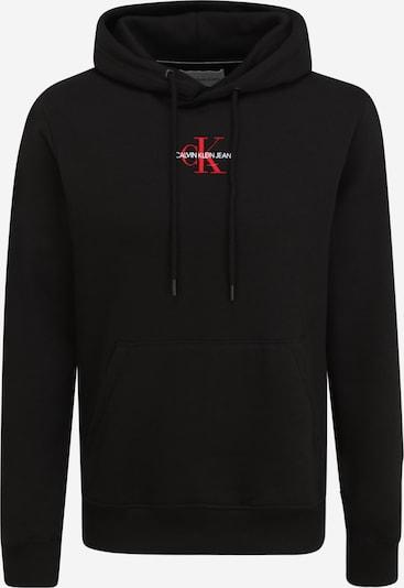 Calvin Klein Jeans Sweat-shirt en rouge / noir / blanc, Vue avec produit
