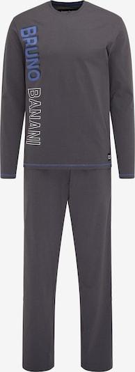 BRUNO BANANI Pyjama lang in de kleur Antraciet, Productweergave