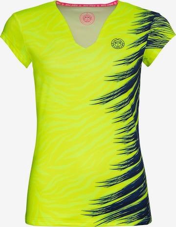 BIDI BADU T-Shirt 'Bella 2.0 Tech V-Neck' in Gelb