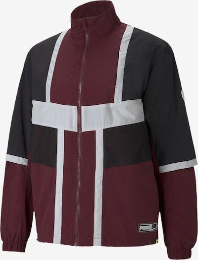 PUMA Sportjas in de kleur Wijnrood / Zwart / Zilver, Productweergave