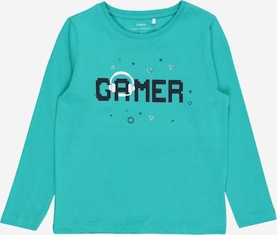 Guppy Shirt 'DEWITT' in türkis / nachtblau / weiß, Produktansicht