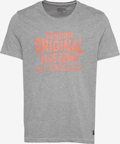 BLEND T-Shirt in graumeliert / orange, Produktansicht