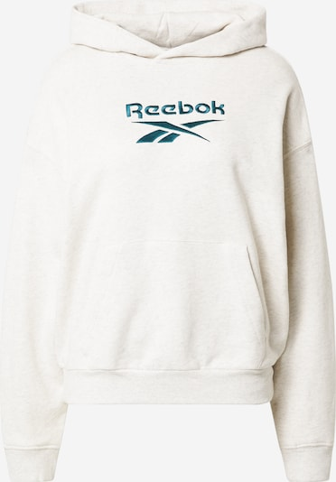 Reebok Classics Sweatshirt in smaragd / weißmeliert, Produktansicht