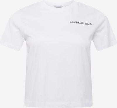 Tricou Calvin Klein Jeans Curve pe negru / alb, Vizualizare produs