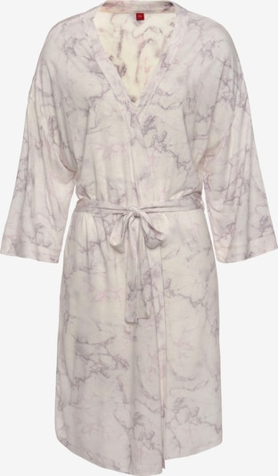s.Oliver Dressing Gown in Cream / Light grey / Light purple, Item view