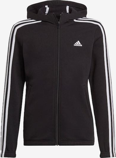 ADIDAS PERFORMANCE Спортна жилетка с качулка в черно / бяло, Преглед на продукта