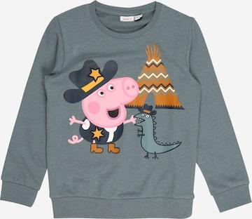 zils NAME IT Sportisks džemperis 'Peppa Pig Toby'