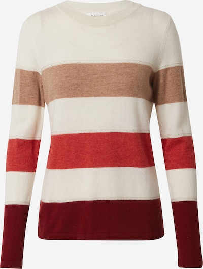 Maison 123 Pullover 'RAY' in beige / hellbeige / bordeaux / rostrot, Produktansicht